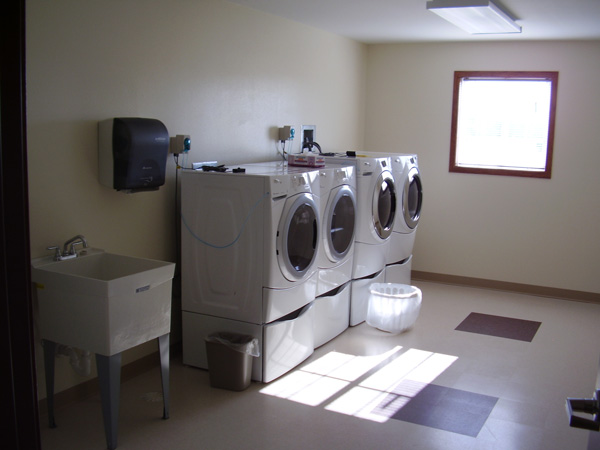 Laundry room at Riverside in Pillager
